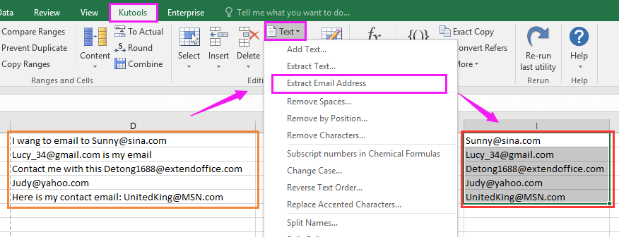 doc extract email address