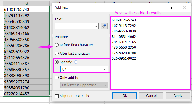 how to add list in excel