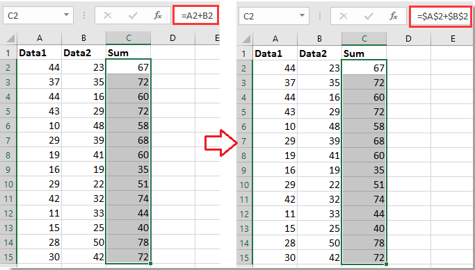 How To Quickly Add $ Into Excel Formulas?