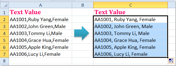 how to add spaces in rows in excel