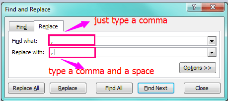 how to delete commas from excel
