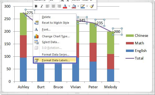 how to add word labels to bars excel