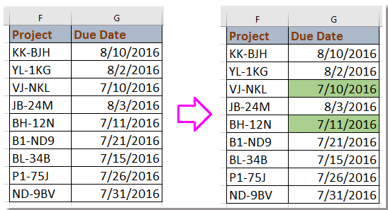 How to alter about approaching due date deadline in excel for Southern living phone number