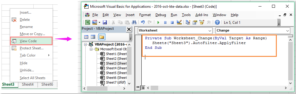 How to automatically reapply auto-filter when data changes in Excel?