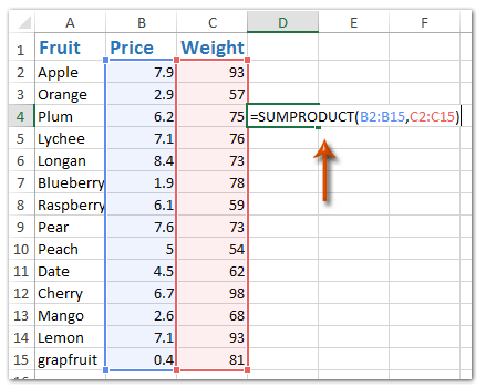 how to add formula to excel column