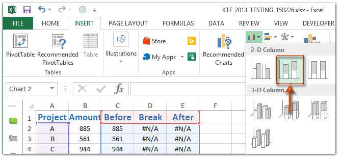 How to break chart axis in excel ccuart Images