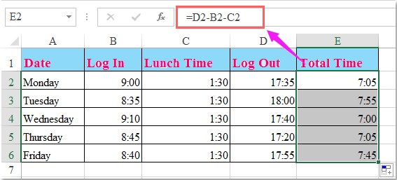 Doc Calculate Worked Hours 4