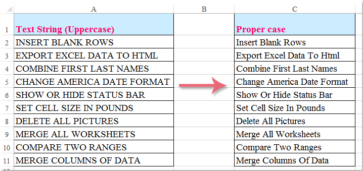 How to change uppercase to proper or title case in microsoft excel ibookread PDF