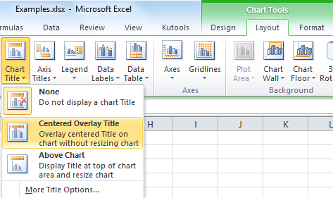 How to add a chart title in excel shot chart title 1 ccuart