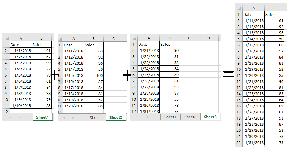 doc collect sheets into one 5