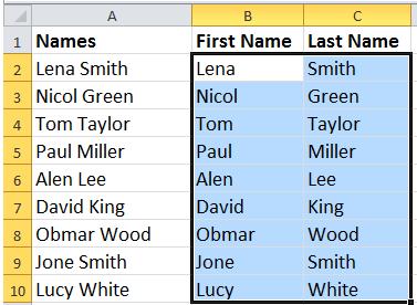 doc split names 5