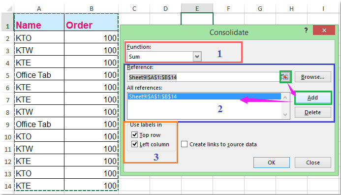 how to combine duplicate rows and sum the values in excel. Black Bedroom Furniture Sets. Home Design Ideas