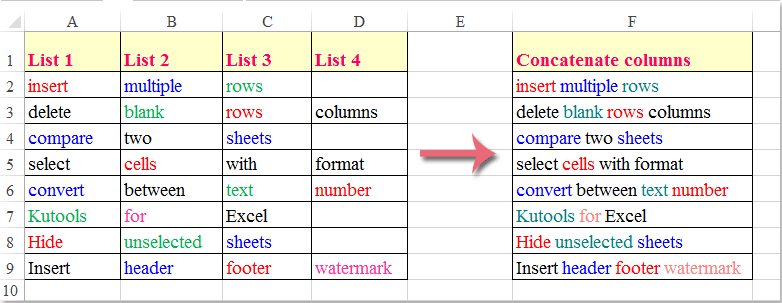 how to make two text rows in excel