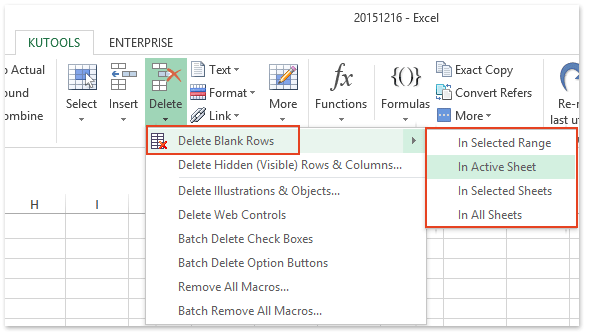 How to condense empty rows columns in excel excel addin one click to delete all blank rows ibookread Read Online