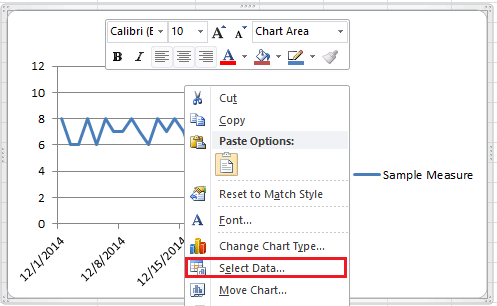 How to create a control chart in excel
