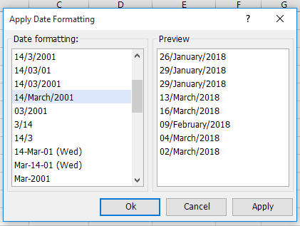 how to convert date to different or specific format in excel
