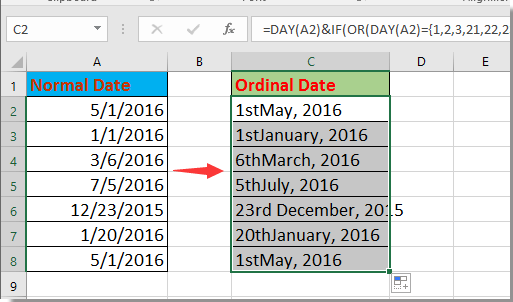 how to change date format in excel using formula