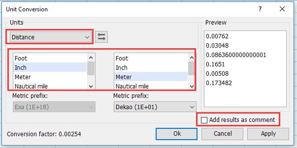 How To Convert Inch To Foot Cm Or Mm In Excel