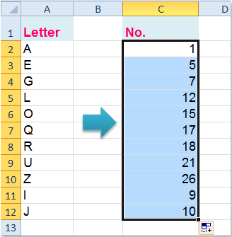 Excel Convert Letter To Number In Alphabet