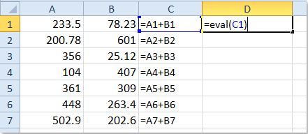 how to convert text strings to formulas in excel. Black Bedroom Furniture Sets. Home Design Ideas