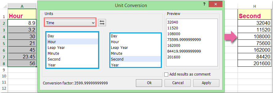 doc convert time to seconds 11