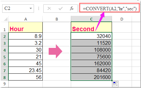 doc convert time to seconds 2
