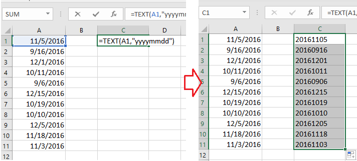 how to change multiple dates in excel