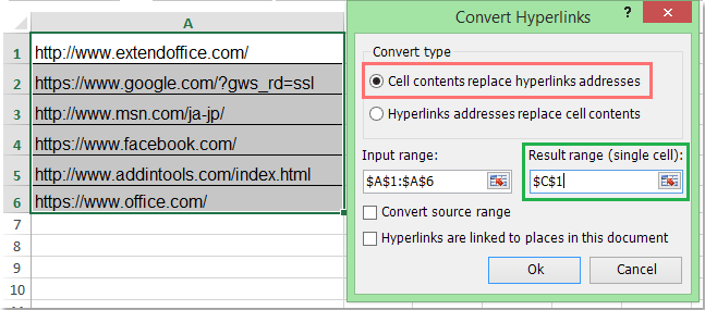 how to make clickable links in document