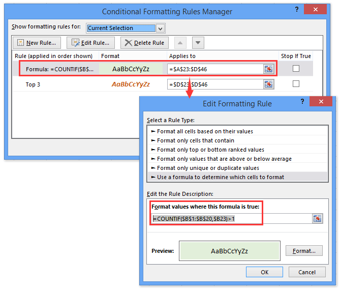 How to copy conditional formatting rules to another worksheet ...