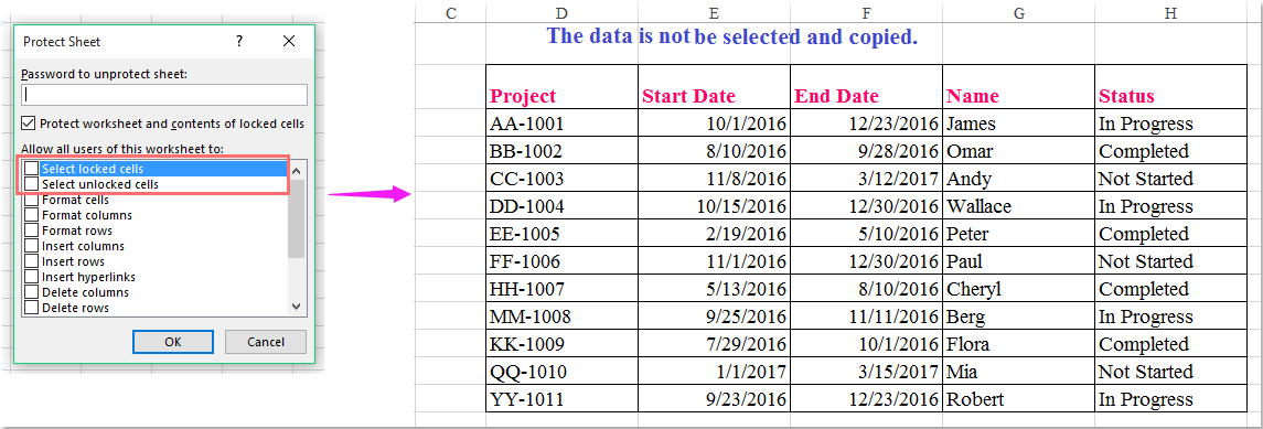 How To Copy Data From Protected Sheet