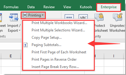 How to resize print area and fit to one page in Excel?