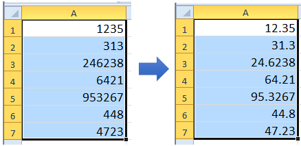 how to get 3 decimal places in excel