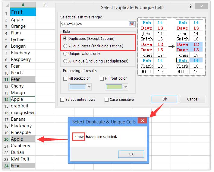 how to delete duplicates in excel column