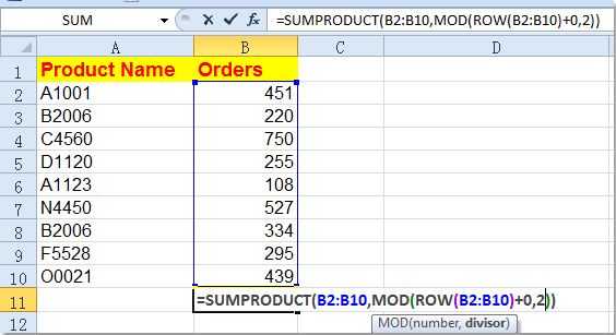 how to add up rows in numbers