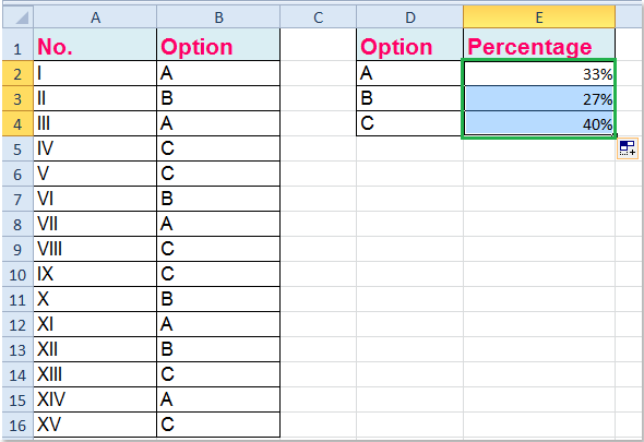 how to find the percent of a sum
