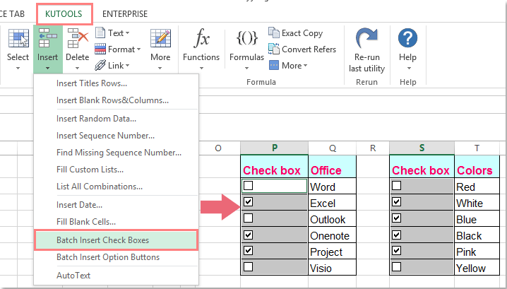How to quickly create combo box in Excel?