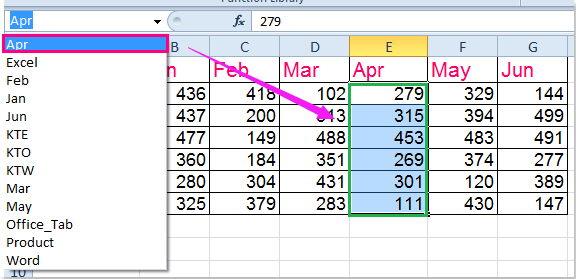 how to create selection list in excel