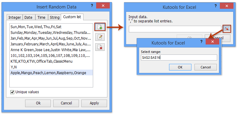 how to create a custom list in excel 2010
