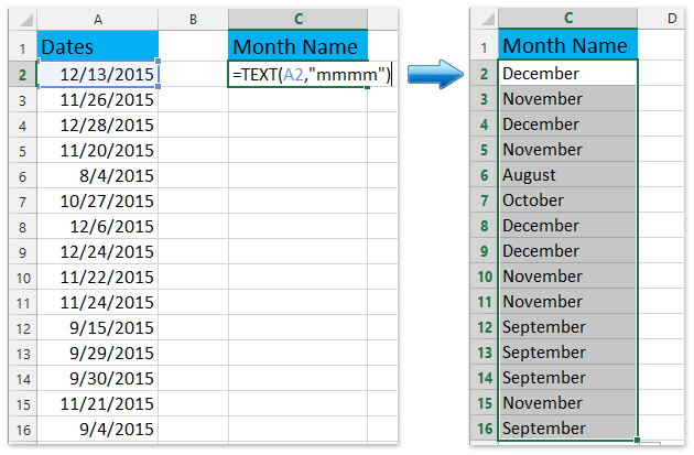 Excel date format day of week single letter
