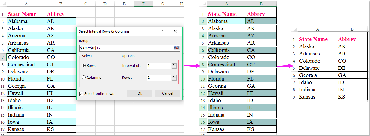 How to quickly delete every other row in Excel?