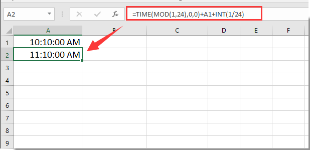how to add minutes in excel formula
