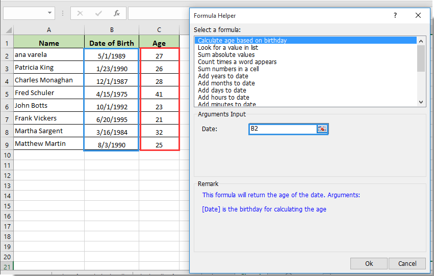Age Difference Calculator
