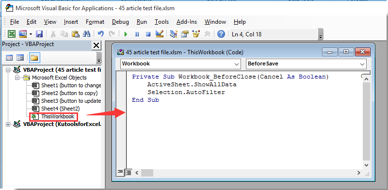 doc-clear-filter-on-open-save-close-3 Open Worksheet Vba Code on for creating tasks, password protect, insert entire row, send outlook emails, save file other folder, show notes, access error, finding bottlenecks, graph hover, toggle button example,