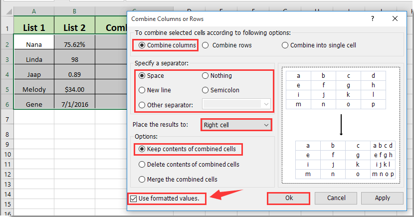 keep formatting changes from combine document