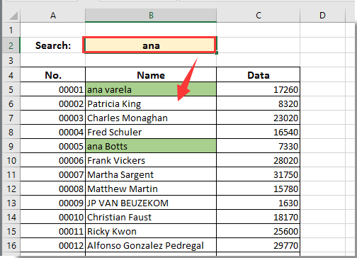 how to make search engine in excel