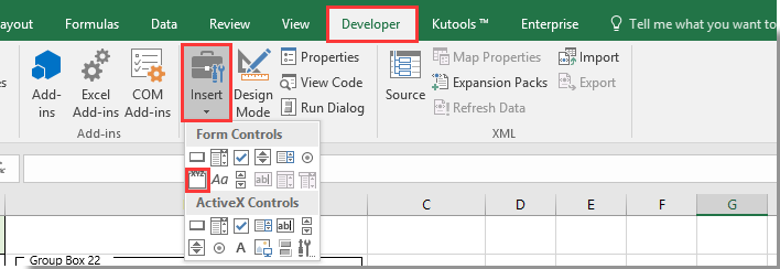 how to create tick box in excel