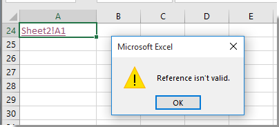 How to create dynamic hyperlink to another sheet in Excel?