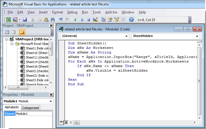 How to hide all worksheets exceptbut the specified or active one – Excel Vba Worksheets