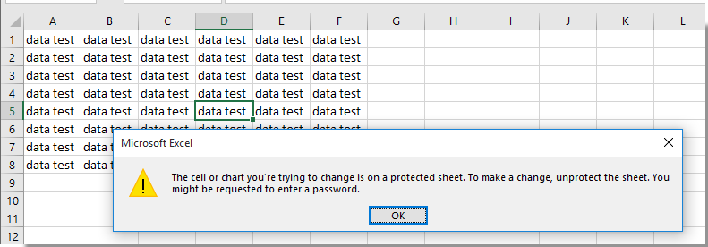 How to lock or protect cells after data entry or input in Excel?