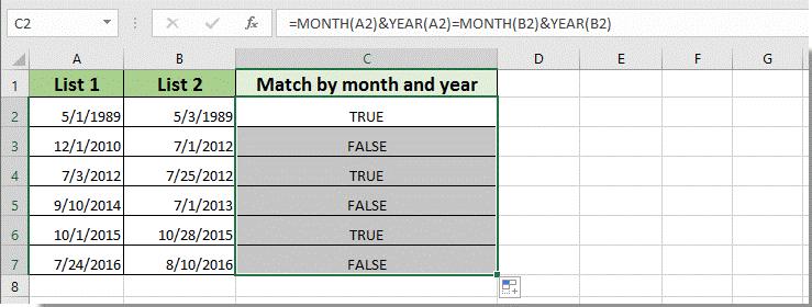 Match date format